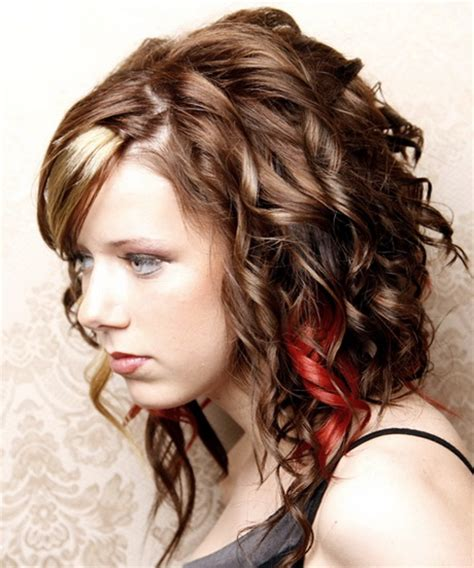 easy hairstyles for medium hair curly hair cool curly hairstyles for girls