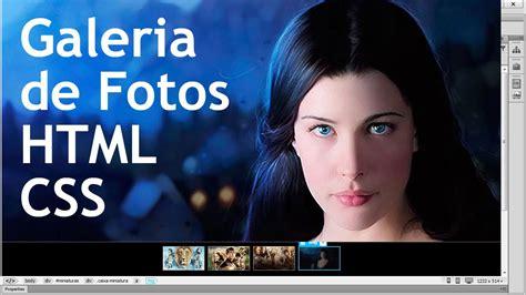 galeria imagenes html codigo galeria de fotos para site em html e css youtube