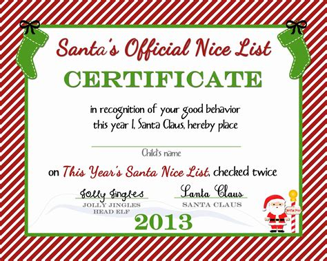 free printable santa certificate template free printable or a delicate gift