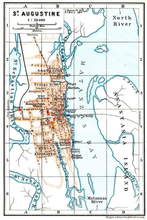 st augustine texas map st augustine 1909