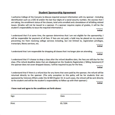 event sponsorship agreement template sle sponsorship agreement 12 documents in pdf word
