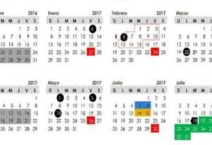 Año Calendario 2017 Calendario D 237 As Festivos Y Puentes De 2017 La Silla Rota