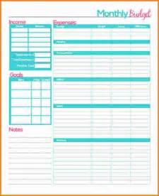 Monthly Budget Planner Template 6 Monthly Budget Planner Worksheet Authorization Letter