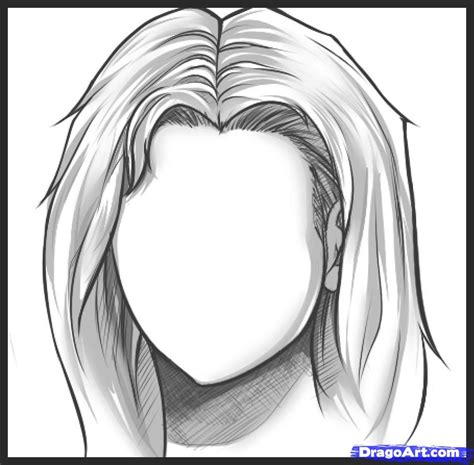 drawing hair how to draw hair step by step hair free