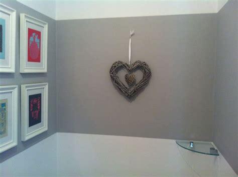 wicker heart grey paint chic shadow  dulux