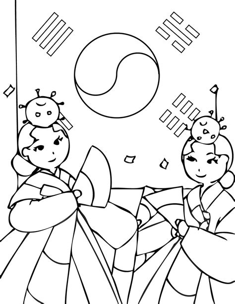 coloring book korea just wedeminute stats page and korean coloring pages
