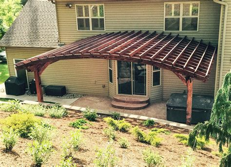 how to build an arched pergola attached arched pergola kits redwood attached arched