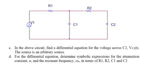 differential equation for voltage across a capacitor differential equation for voltage across a resistor 28 images learning basic workings of