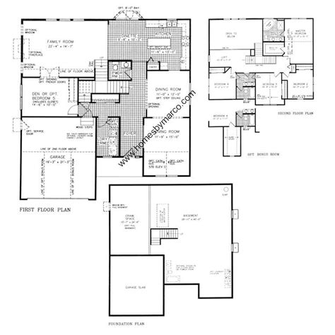 subdivision floor plan inspirational homes by marco floor plans new home plans design