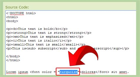 how to change color in html how to change text color in html with exles wikihow