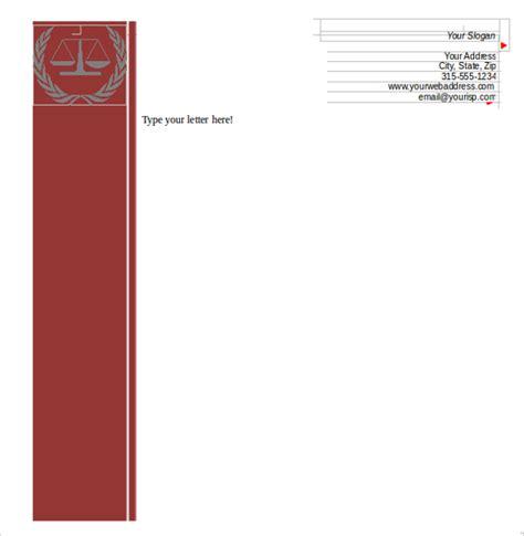 advocate letterhead format