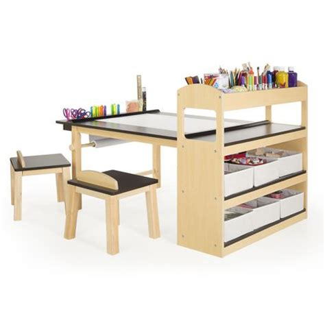 guidecraft art table and chair set red guidecraft deluxe art center walmart ca