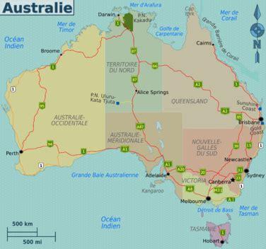 australia province map australie carte provinces