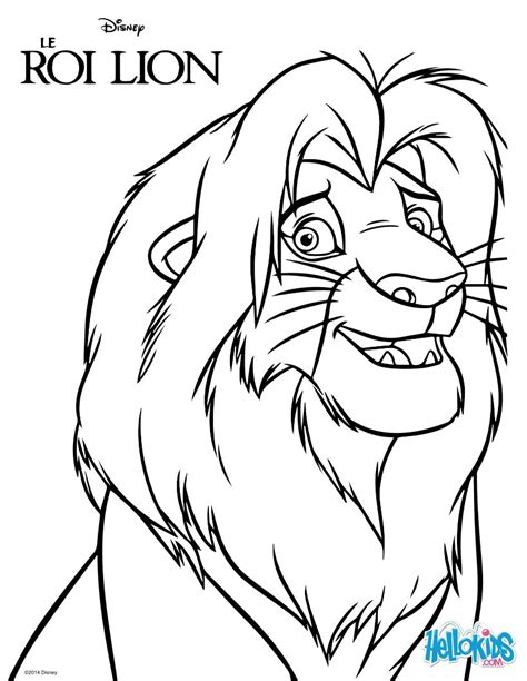 lion king coloring pages online game the lion king simba coloring pages hellokids com