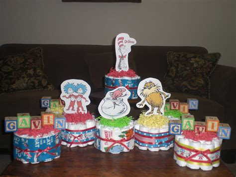 dr seuss diaper cakes baby shower by bearbottomdiapercakes