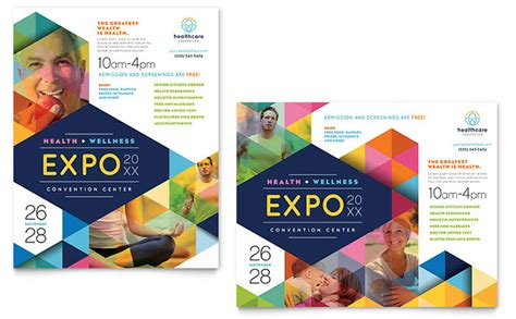 templates for designing posters health fair poster template design