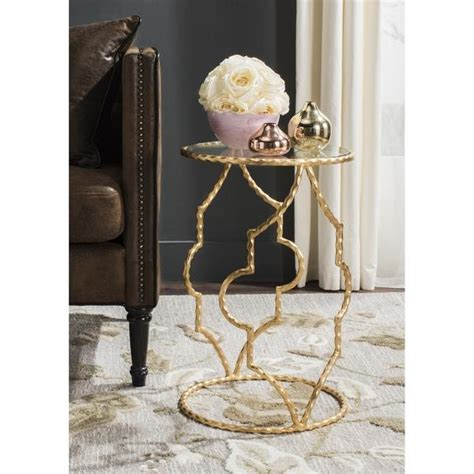 gold round side table brown gold eucalyptus side table