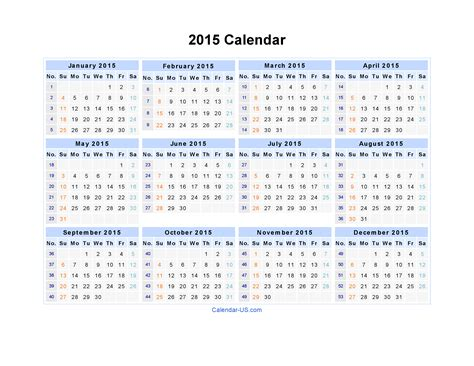 year 2015 calendar template free printable yearly calendar 2015 2017 printable calendar