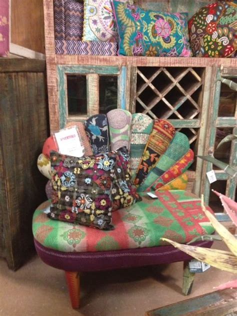 Boho Patchwork Chair - bohemian patchwork peacock chair