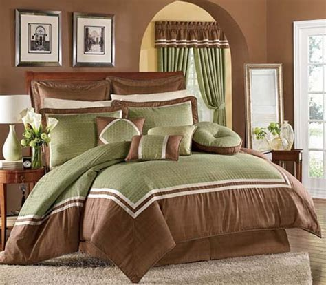 green and brown bedroom decorating ideas for the house