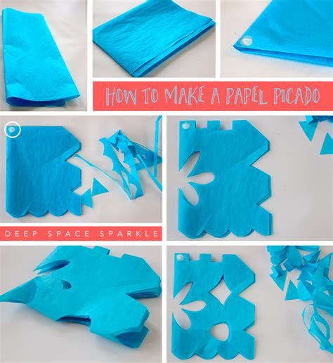 how to make a template how to make a papel picado space sparkle