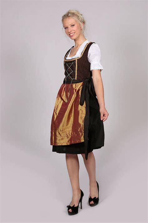 Amarsa Black Dress Dress Wanita vintage amara midi dirndl dress black gold lederhosen store