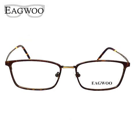 titanium eyeglasses frame vintage big size optical