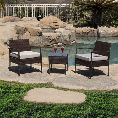 outdoor patio set 3pc wicker furniture seating garden