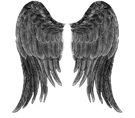 black and white angel wings tattoo designs 29 best closed wings tattoos designs images on