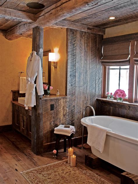 rustic bathroom walls small bathtub ideas and options pictures tips from hgtv