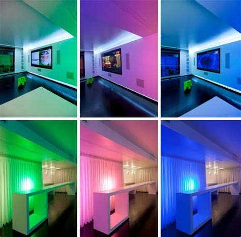 home interior design led lights lights city condo colorful cinema style interior design