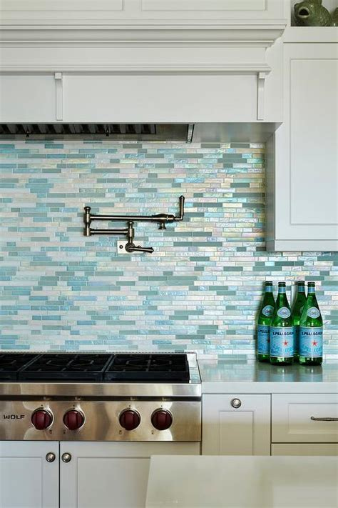 blue mosaic tile backsplash blue mediterranean mosaic kitchen backsplash tiles design