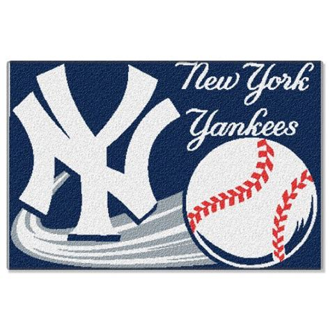 Baseball Bathroom Rug Mlb New York Yankees 20 Inch By 30 Inch Tufted Rug Home Garden Bathroom Accessories Bath Mats Rugs