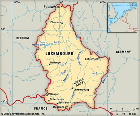 where is luxembourg on the map luxembourg encyclopedia children s homework help
