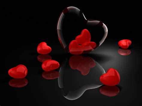 imagenes love 3d heart black backgrounds wallpaper cave
