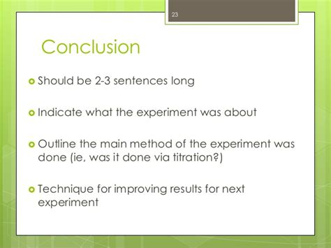 Experiment Conclusion Outline by The Do S Don Ts Of Lab Reports Mcgill Sus Peer Tutoring