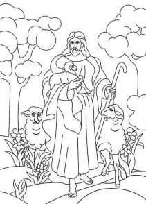 coloring page jesus the good shepherd image