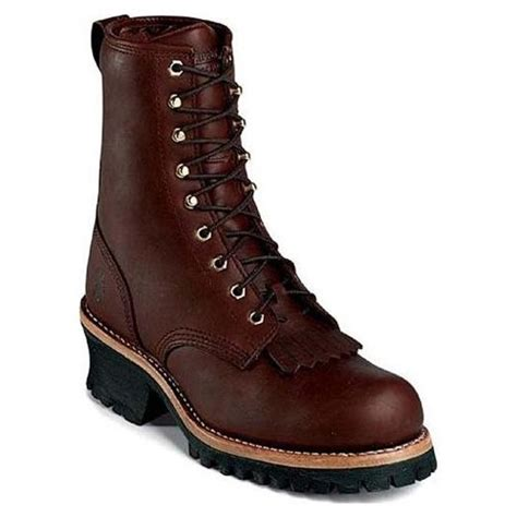 womens chippewa 8 quot leather work boots clothing