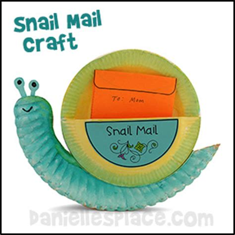 Snail Paper Plate Craft - snail mail paper plate craft for from www