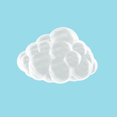 puffy cloud 3d model