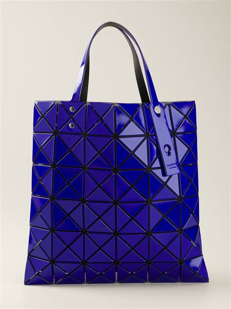 Handbag Bao Bao G172 Murah lyst bao bao issey miyake geometric panel tote bag in blue
