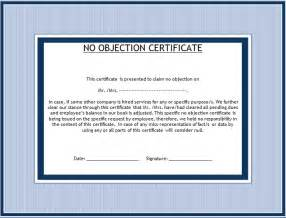 doc 10841600 no objection letter format personal noc