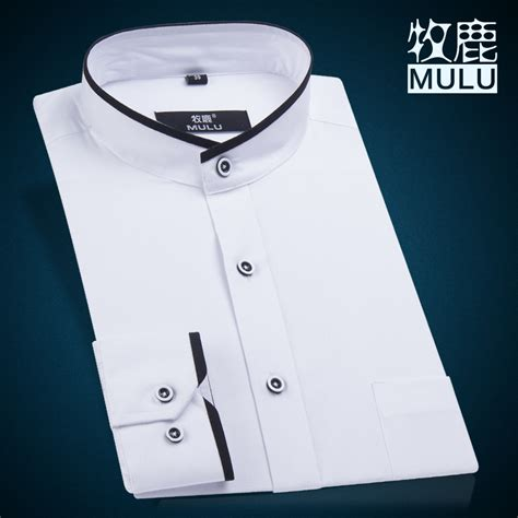 sewing pattern grandad shirt white black mandarin collar shirt for men shirt slim fit