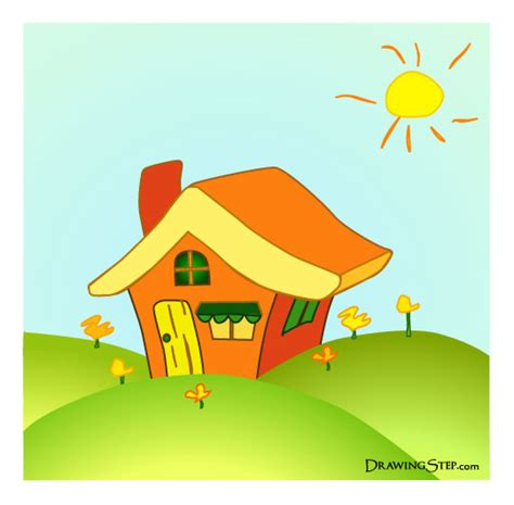 cartoon house cartoon house drawing in 7 easy steps