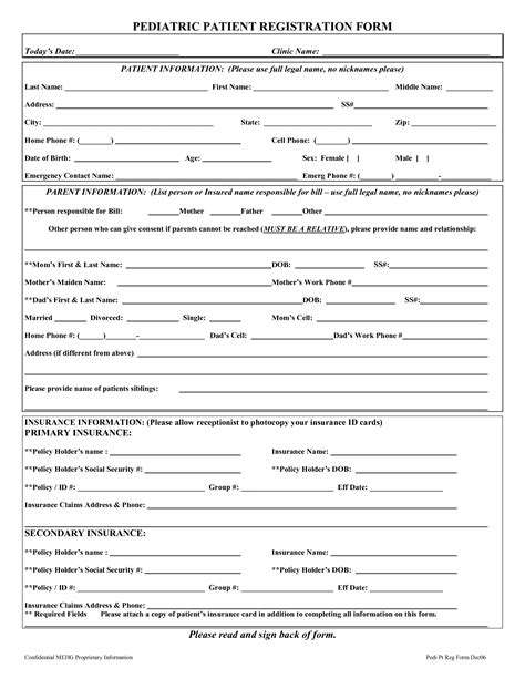 printable form 5 best images of printable patient registration forms