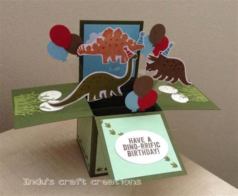 Boxes For Handmade Cards - handmade card in a box dinosaur birthday by