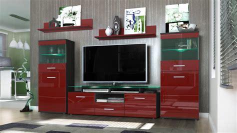 Wall Unit Living Room Furniture Wall Unit Living Room Furniture Almada Black High Gloss Tones