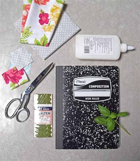 home improvement a fabric covered garden journal diy for
