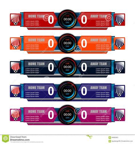 scoreboard template scoreboard template for sport stock vector illustration