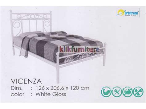Jual Tempat Tidur Besi harga tempat tidur besi vicenza orbitrend diskon promo